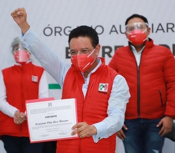 Benjamín Rico y Gloria Romero, la formula de alianza «Va por México» en Hidalgo