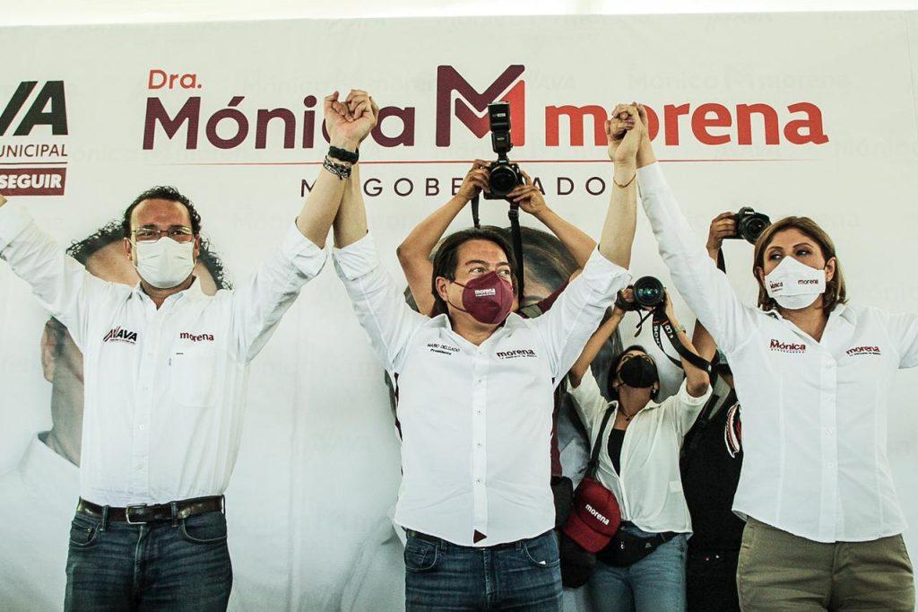 Morena es el partido del presidente y ellos son los candidatos: Mario Delgado recorre San Luis Potosí con la Dra. Mónica Rangel y candidatos a PM